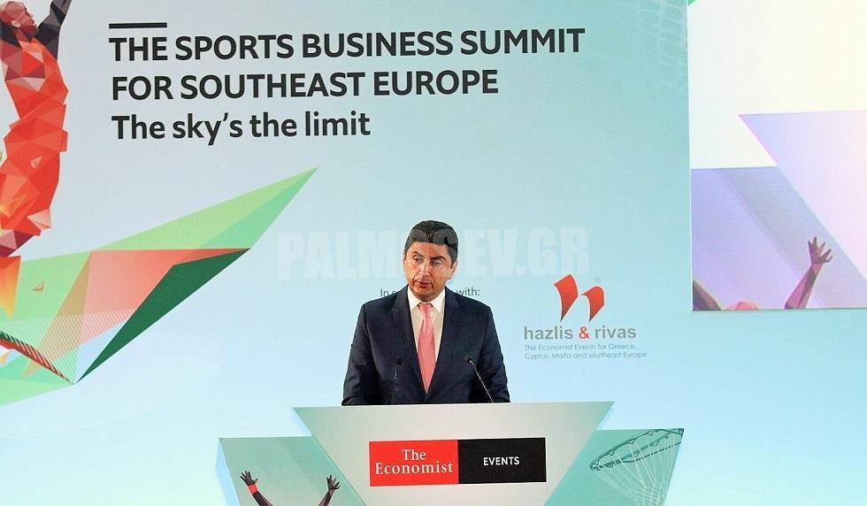 Ομιλία του Υφυπ. Αθλητισμου Λ. Αυγενάκη στο συνέδριο»The Economist Sports Business Summit for Southeast Europe»