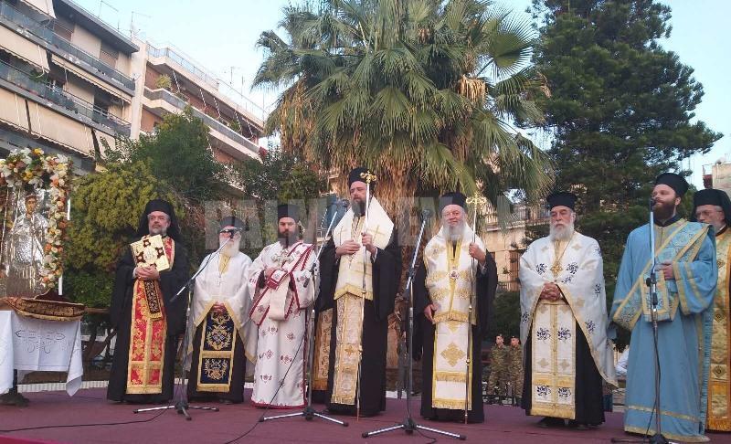 Ο Επίσκοπος Ωρεών Φιλόθεος στην έναρξη των κζ΄ Δημητρίων Χαλκίδος