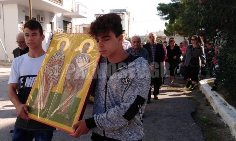 Εορτασμός των Επισκόπων Ωρεών Θεόφιλου και Φιλητού στην ενορία Ωρεών Ιστιαίας