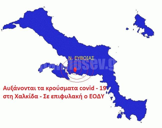 Αυξάνονται τα κρούσματα covid – 19 στη Χαλκίδα σε επιφυλακή ο ΕΟΔΥ- Ο χάρτης διασποράς στη χώρα