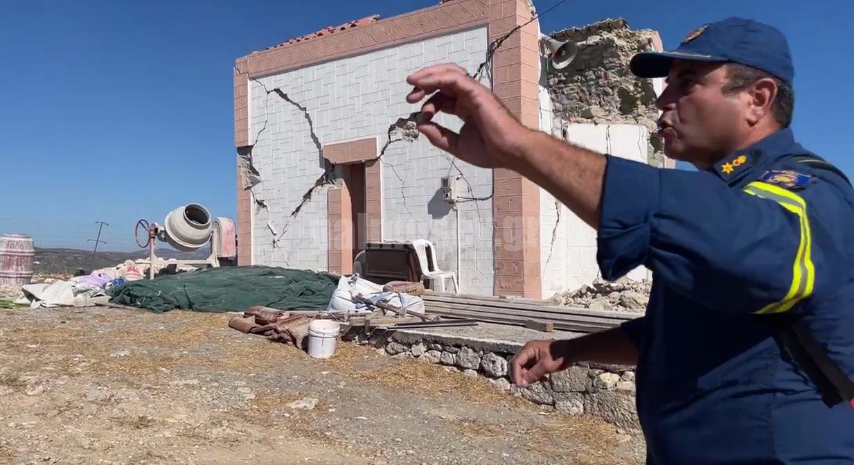 Ένας νεκρός από τον μεγάλο σεισμό στο Αρκαλοχώρι- Κατάρρευσε τρούλος εκκλησίας